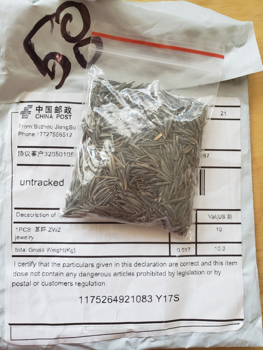 Example of unsolicited seed package