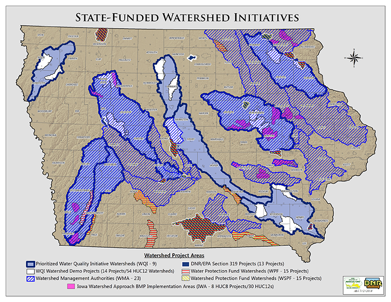 Map of State Funded Watersheds